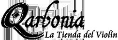 Logotipo Qarbonia, la tienda del violín
