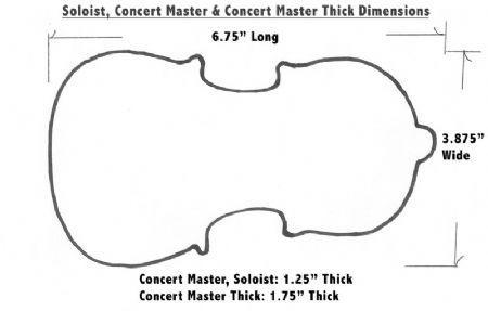 acousta grip concert master almohadilla violin viola
