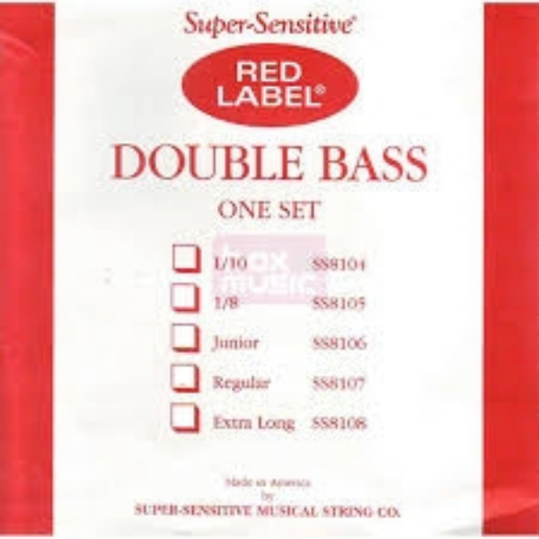 CUERDA CONTRABAJO SUPER-SENSITIVE RED LABEL