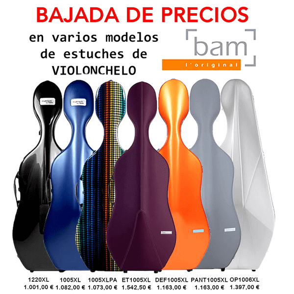 BAJADA DE PRECIOS EN ESTUCHES BAM DE VIOLONCHELO