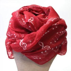 pañuelo notas musicales rojo qarbonia 2